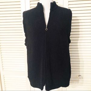 Colorado Clothing |🌺Black Chenille Lined Zip Vest